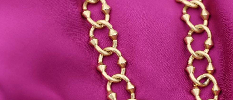 "80s Anne Klein necklace ""tank style"""