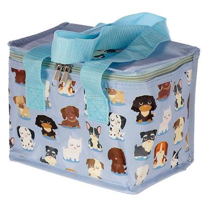 Woven Lunch Cooler Bag - Dog Squad Design