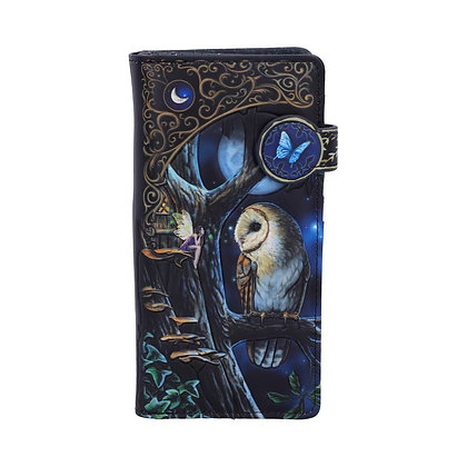 Fairy Tales Owl and Fairy Embossed Purse 18.5cm - Lisa Parker