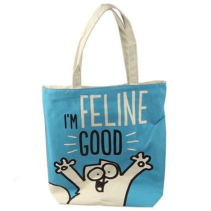 I'm Feline Good Simon's Cat Cotton Bag