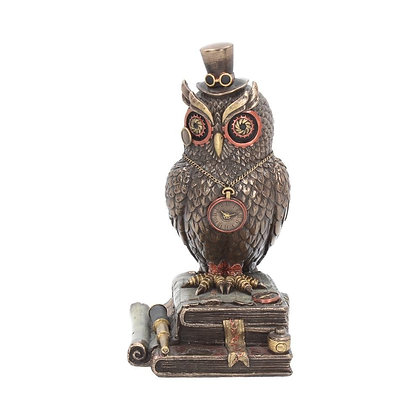 Time Wise Steampunk Owl Ornament - 20.5cm