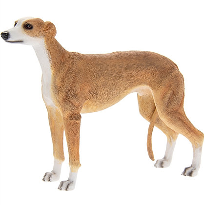 Leonardo Tan and White Greyhound Dog Ornament