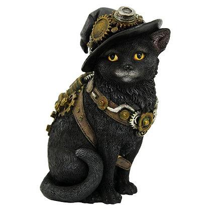 Clockwork Kitty Steampunk Cat Ornament - 16.5cm
