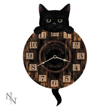 Kitten Tickin' Cat Pendulum Clock - 32cm