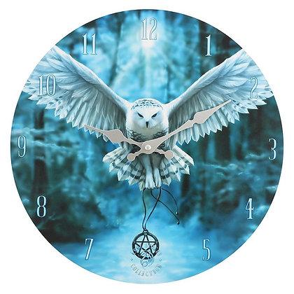 Awake Your Magic Owl Wall Clock - Anne Stokes
