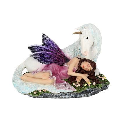 Euone Fairy and Unicorn Ornament - 16cm