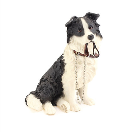 Leonardo Walkies Border Collie Dog Ornament