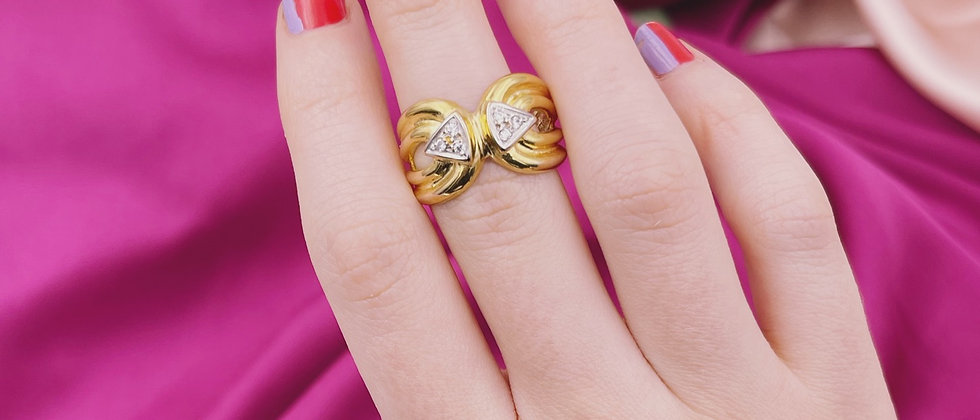18kt gold-plated design ring t.57.5