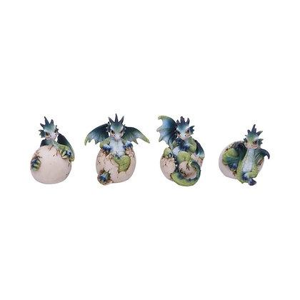 Hatchlings Emergence Dragon Ornaments (Set of 4) 8cm