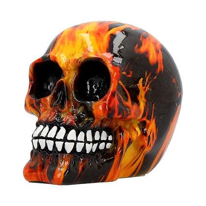 Inferno Skull Ornament 11cm