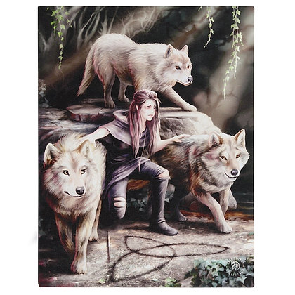 Power of Three Wolves - Anne Stokes Canvas