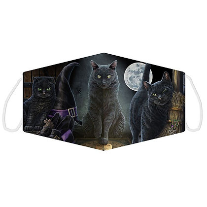 Halloween Black Cats Face Covering (Large) - Lisa Parker