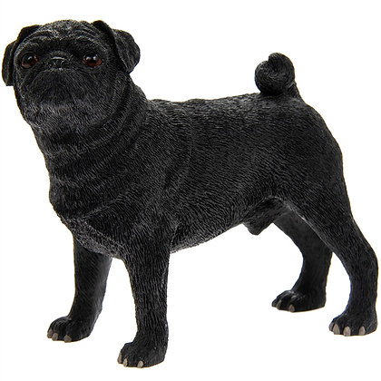 Leonardo Black Pug Dog Ornament