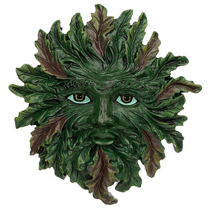 Green Man Wall Plaque - Spring Green