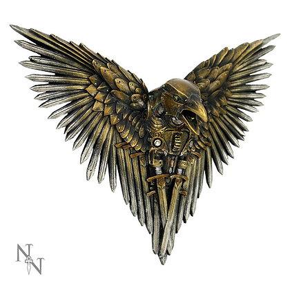 Blade Raven Steampunk Wall Plaque - 27cm