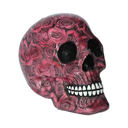 Red Romance Skull Ornament 19cm