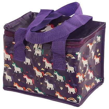 Woven Lunch Cooler Bag - Enchanted Rainbow Unicorn Design