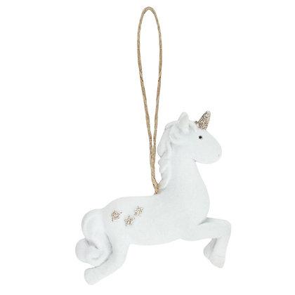 Leaping Unicorn Hanging Ornament