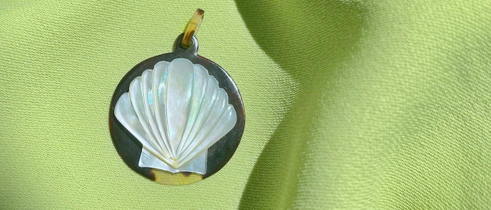Antique shell pendant