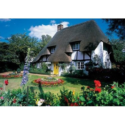 Thatched Cottage With Yellow Door 1000 Piece Jigsaw Puzzle
