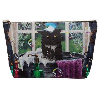 Bath Time Cat Large PVC Wash Bag - Lisa Parker