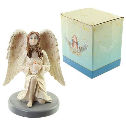 Celestial Guardian Angel Candle Reflection Ornament - 15cm - Natasha Faulkner