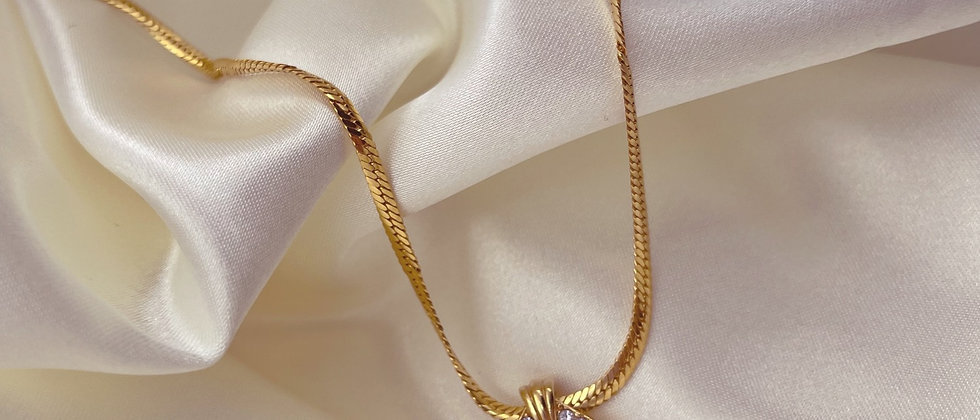 Green Avon necklace