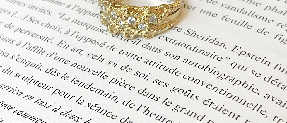 18kt gold-plated detailed shiny band ring