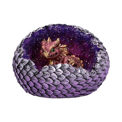Geode Home Red Dragon Ornament 10.7cm