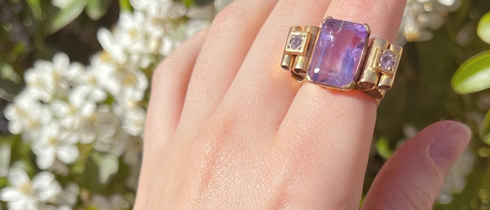 Incredible handmade amethyst ring