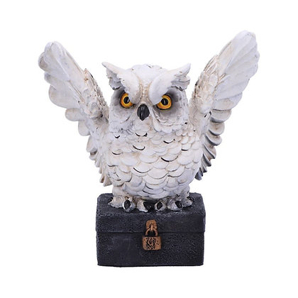 Archimedes White Horned Owl Ornament 12.5cm
