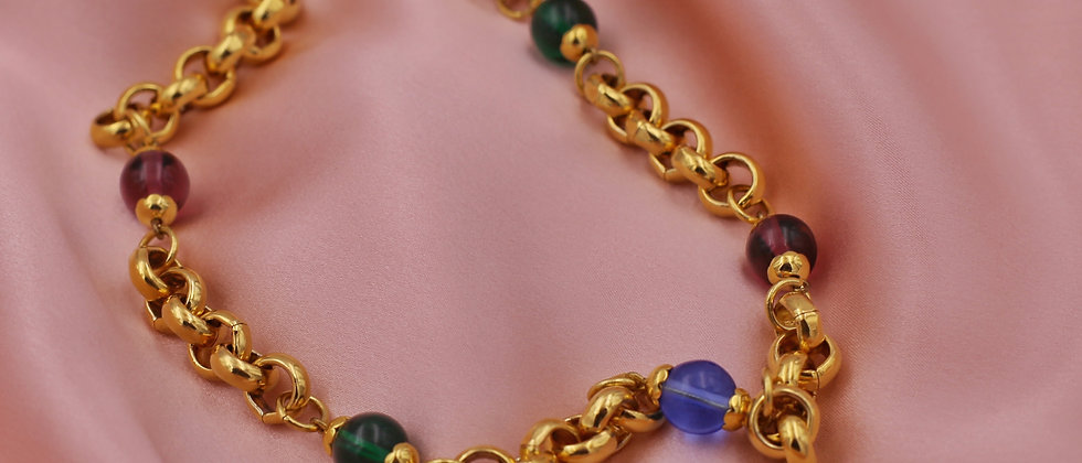 Colorful golden chain