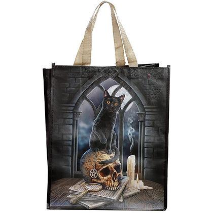 Spirits of Salem Cat and Skull Shopping Bag - Lisa Parker