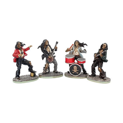 One Hell of a Band Skeletal Ornaments - 10cm (Set of 4)