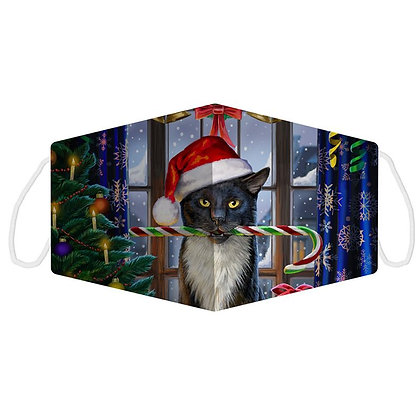 Christmas Krampuss Cat Face Covering (Large) - Lisa Parker