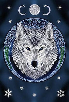 Lunar Wolf Crystal Art Notebook - Anne Stokes