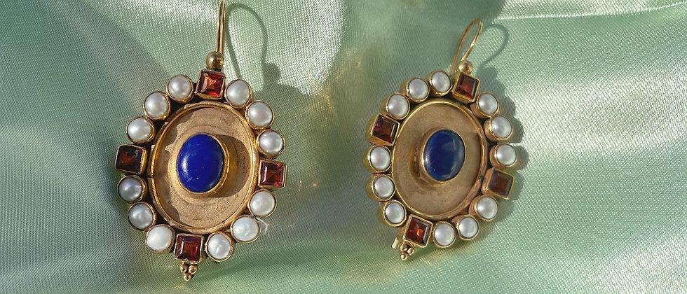 Dashing blue eyed Marguerite earrings
