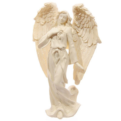 Cream Standing Angel Ornament - 17cm