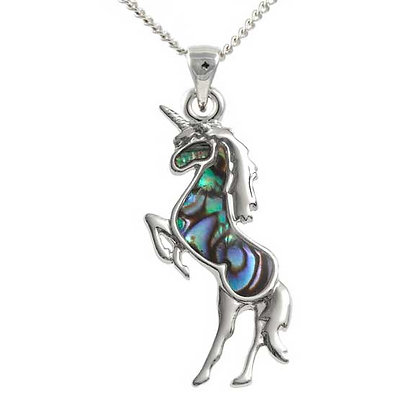 Unicorn Paua Shell Pendant
