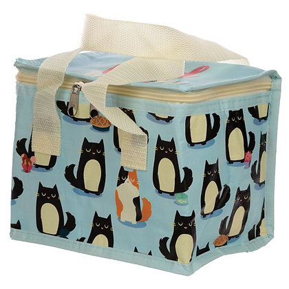 Woven Lunch Cooler Bag - Feline Fine Cat Design