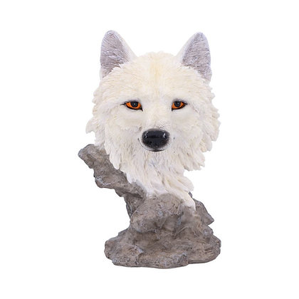 Snow Searcher Wolf Bust Ornament - 12cm