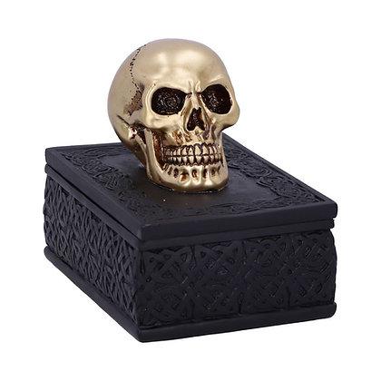 Celtic Opulence Skull Trinket Box - 11.8cm