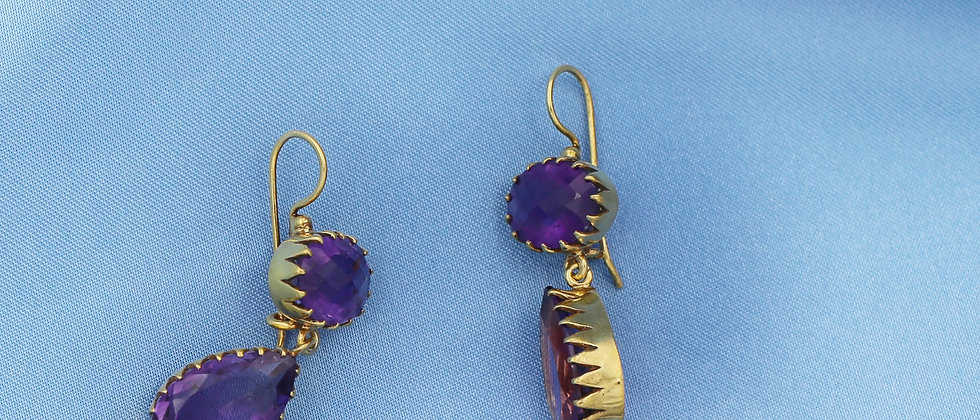 Witchy stunning amethysts drops earrings