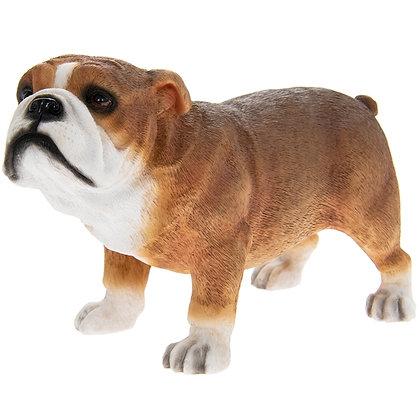 Leonardo Tan and White Bulldog Dog Ornament