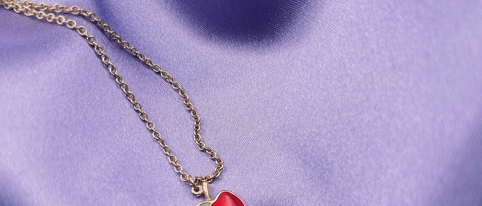 Vintage Avon apple necklace