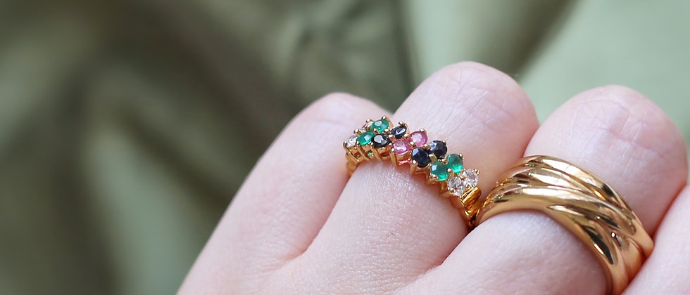 Nice 18kt gold-plated 'harem style' ring