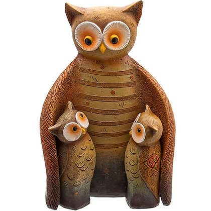 Owl Family Ornament - 17cm