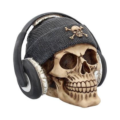 Dead Beat Skull Ornament - 17cm