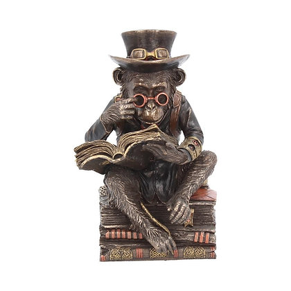 Chimpanzee Scholar Steampunk Ornament - 19.5cm