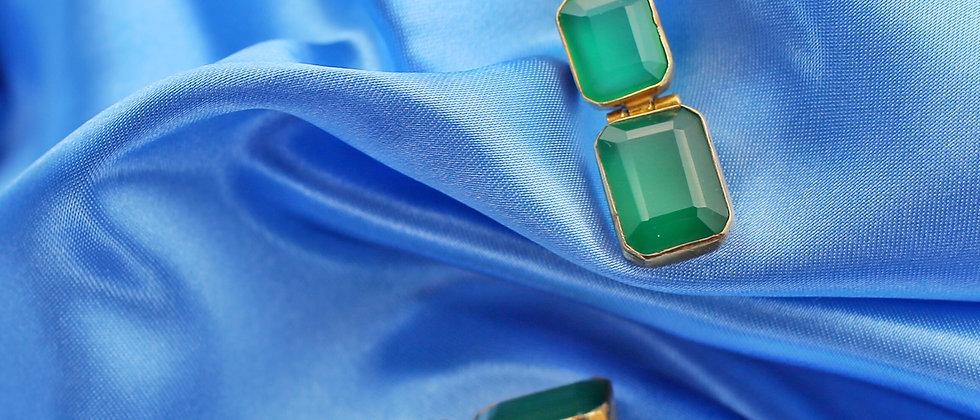 Crazy beautiful green agates earrings